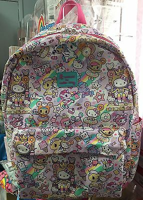 2017 New Sanrio HELLO KITTY TOKIDOKI DONUTELLA backpack! (Sold Out In Stores)