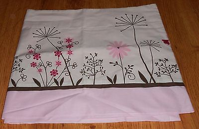 KidsLine Window Valance Pink Floral  Butterfly Meadow 100% Organic Cotton Girl