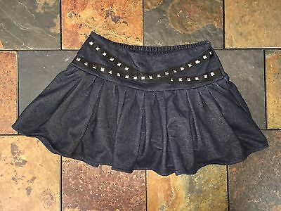 Justice Girls Size 12 Studded Accent Pull-On Skort Skirt