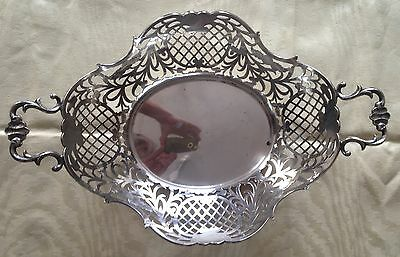 French Silver Bread Tray/fruit Bowl.  In Good Condition From The 19Th Century
