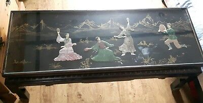 antique style chineese chinoiserie coffee table
