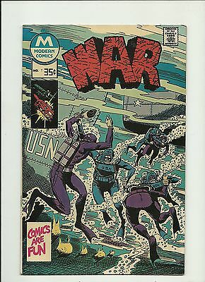 War #7 1976 Modern Comics  Submarines And Frogmen Cover  High Grade  Nm-