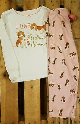Carter's Girl's 2 piece Pajamas Puppies I love bedtime stories Pink Size 5T