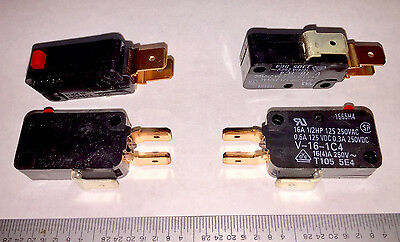 SWITCH Microswitch - Pack of 5 each - MicroType - Snap-Action OMRON V-16-1C4