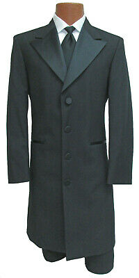 Black Avalon Frock Coat Long Western Jacket Theater Costume Victorian Caroler