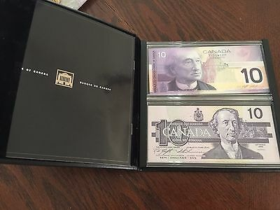 1986-2001 Canada Lasting Impressions Two $10 Bills Collectors Set