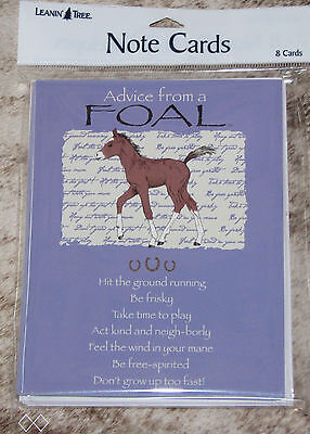 LEANIN TREE Advice from a Foal #35552 ~ 8 Notecards ~ Don't Grow Up Too Fast ~