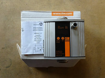 IFM ELECTRONIC SU8000 ULTRASONIC FLOW METER boxed with instructions