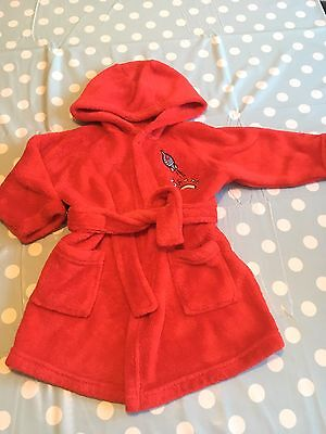 Baby Boys Dressing Gown 9-12months Bath pjs red