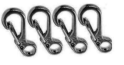 Mini Carabiner Stainless Steel clips x 4