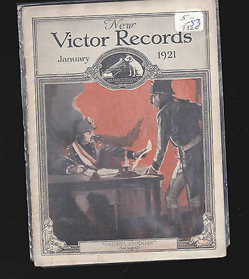 New Victor Records Catalog- Great reference- Andrea Chenier January 1921