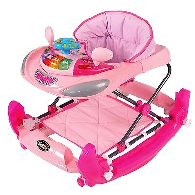 Kiddu Harley 2 in 1 Toy Baby Walker/Rocker - 6 Months - Pink
