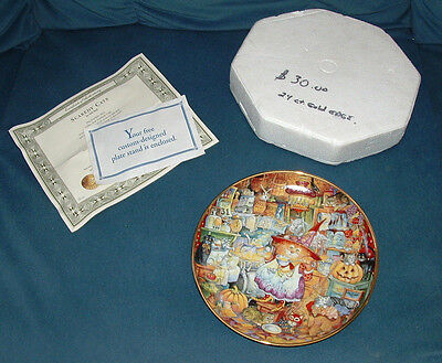 "Franklin Mint ""Scaredy Cats"" Porcelain Plate #HG6126 by Bill Bell w/ COA"