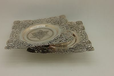 Antique Original Perfect Silver Persian Amazing Double Plate