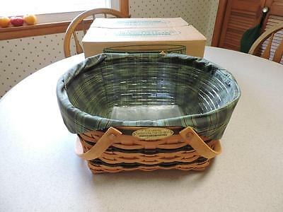 Longaberger 1996 Community Basket Liner Protector In Box Traditions Collection