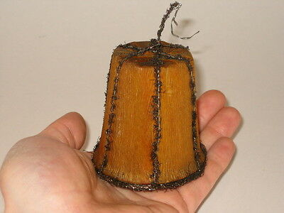 Crepe Paper Fabric Bell Christmas Ornament Antique Germany Decoration 1900's