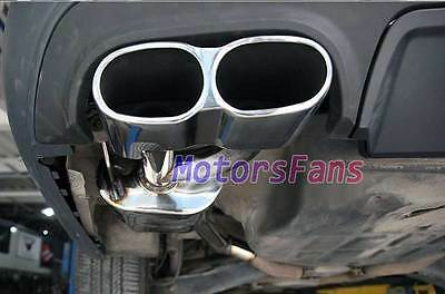 AMG STYLE CHROME QUAD EXHAUST MUFFLER TIPS FOR Mercedes W221 S-Class S65 m114W