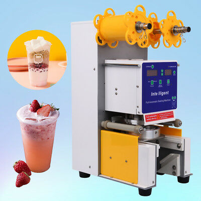 Full Automatic 250W Cup Sealer Sealing Machine Coffee Boba Bubble Tea 750 Cup/hr