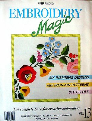 EMBROIDERY MAGIC No.13 - 6 Designs with Iron-on Patterns Creative Embroidery VGC