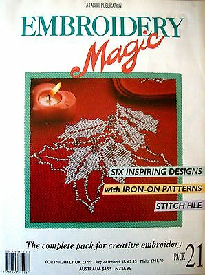 EMBROIDERY MAGIC No.21 - 6 Designs with Iron-on Patterns Creative Embroidery VGC