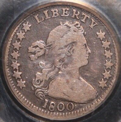 Very Nice 1800 Draped Bust Half Dime, Pcgs F15 W/ Cac Sticker, 3-Day Return