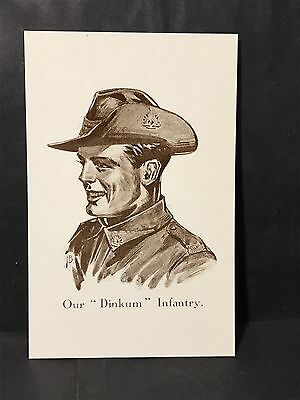 OUR DINKUM INFANTRY Postcard IMPERISHABLE ANZACS SERIES Reproduction Post Card