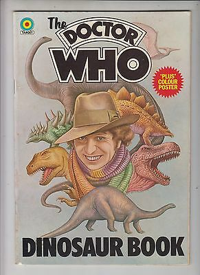 DR WHO DINOSAUR BOOK  - Target (Allen & Co) 1976 UK - with colour Poster