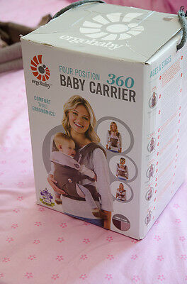 ERGOBABY 360 4 Position Ergo baby carrier / TAUPE LILAC/ NEW with BOX & BOOKLET