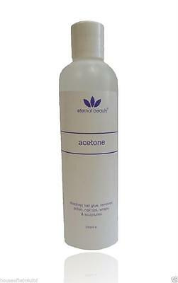 Acrylic Nail Remover, Nail Polish Remover,Pure Acetone,By Eternal Beauty - 250ml