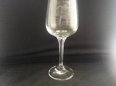 Glass Crystal Masonic Wine Glass Etched Lever Park Lodge No 8144 Ladies Night