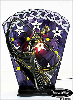 Best Gift Ideas@Dancer Figurines Tiffany Stained Glass Art Deco Lamp