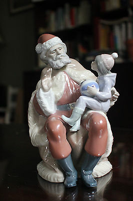 LLADRO # 5711 SANTA CLAUS w/CHILD A CHRISTMAS WISH LLADRÓ MINT  FAST SHIP!! NO B