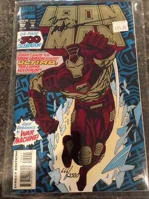 Marvel Comics- IRON MAN. Comic Book Signed & C.O.A. #666/2500. Nice!