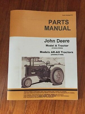John Deere Unstyled A Parts Manual