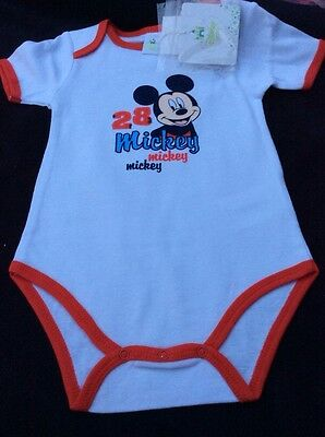 *BNWT* Boys Mickey Mouse Body Suit By Disney Baby (18 Mths) *FREE UK P&P*
