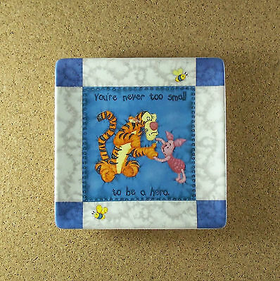 Hundred Acre Wisdom NEVER TOO SMALL Winne the Pooh Square Quilt Plate #4 Tigger