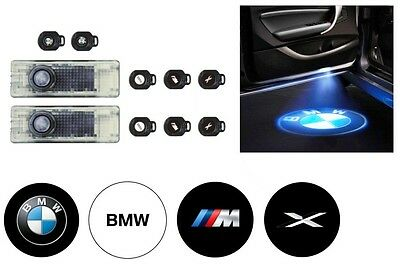 BMW Genuine LED Door Projectors Welcome Step Logo Emblem Light 63312414105