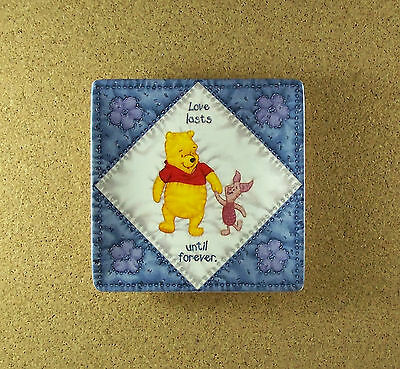 Hundred Acre Wisdom UNTIL FOREVER Winne the Pooh Square Quilt Plate #5 Charming!