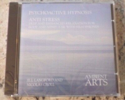 Psychoactive Hypnosis - Anti Stress CD NEW & SEALED SELF HELP HYPNOTIC RELAX CD