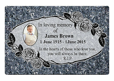 MEMORIAL PLAQUE PHOTO 11 Metal Aluminium Sign Plaque Custom Personalised Funeral