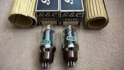 Two NOS GEC KT66 Valves Tubes Boxed Excellent