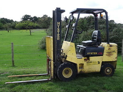 Hyster H1.75XL Diesel Forklift Container Spec Low Mast 3585 Hours