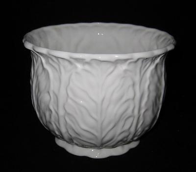 Coalport Bone China, COUNTRYWARE, White Embossed Leaves, Cachepot, 5""