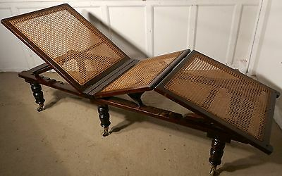 19th Century Mahogany Steamer Day Bed, Bed Chair, Campaign Bed