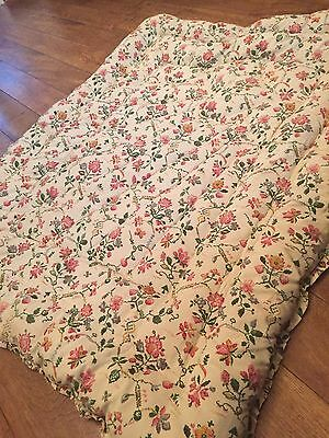 Vintage floral eiderdown quilt feather filled Great Condition