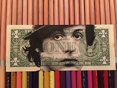 Rocky Sylvester Stallone  $2 Hobo One Two Dollar Bill Original Art Real Money