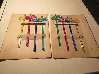 Vintage Lot of 8 Swizzle Sticks Clever Sayings