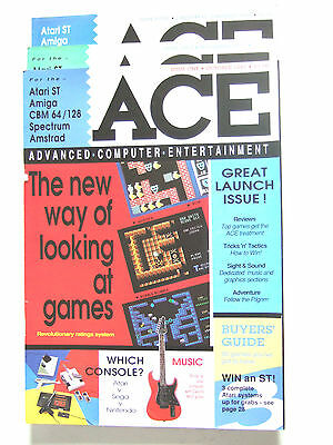 "VINTAGE 1st. 4  ""ACE"" computer mags.RARE 1st. Issue+RARE Issue No.2 3 & 4.1987."