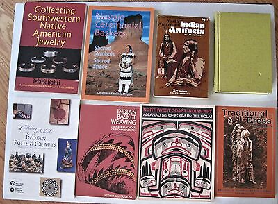 Lot - 15 Reference Books Native American Indian Silver Jewelry Basketry