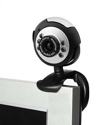Brand New 6 Led Usb 2.0 Webcam Camera Xp, Vista, Windows 7 Skype, Yahoo, Msn Mic